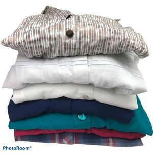 Cato Plus Size 22W 24W Shirt Lot of 7 Button Up